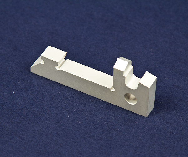 CNC Machined example of hydrolic gripper finger